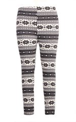 Pink Queen Womens Snow Snowflake Pattern Christmas Legging Tights Pants (Free Size, Classic Snowflake)
