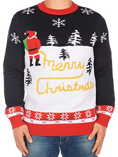 Ugly Christmas Sweater - Yellow Snow Sweater by Tipsy Elves (XL)