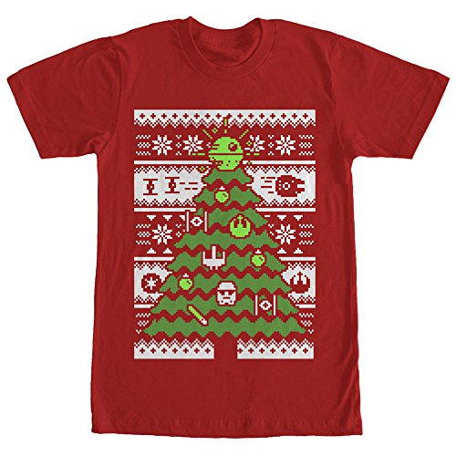 Star Wars Ugly Sweater Christmas Tree Mens 2XL Graphic T Shirt - Fifth Sun