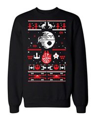 Sci Fi Ugly Christmas Sweater Adult Sweatshirt Cool Funny Death Star M