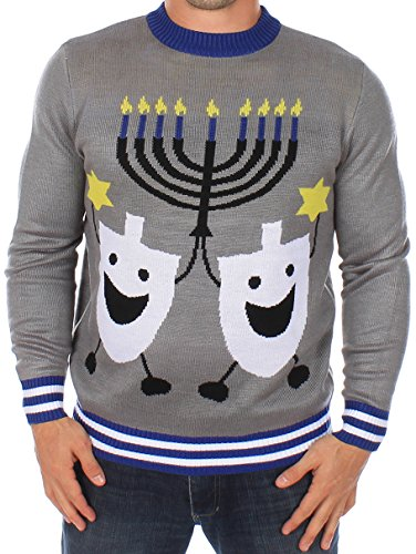Ugly Christmas Sweater - Hanukkah Sweater by Tipsy Elves (M)
